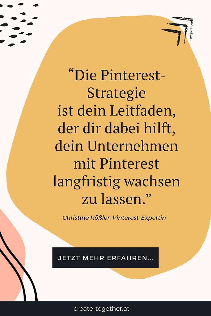 """grafische Elemente mit Textoverlay """"Pinterest-Strategie für Unternehmen"""""""