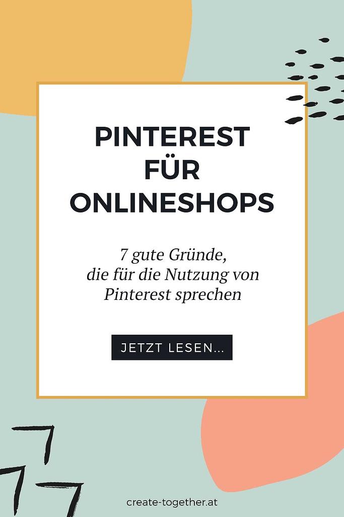"""grafische Elemente mit Textoverlay """"Pinterest für Onlineshops"""""""